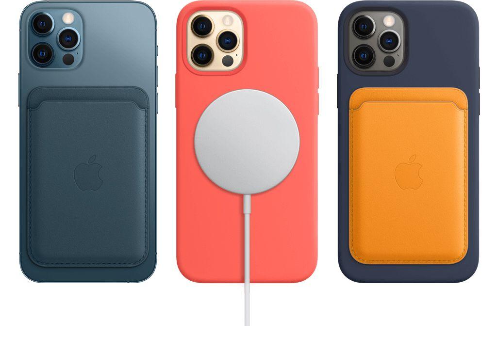 MagSafeアクセサリを装着したiPhone 12 Pro