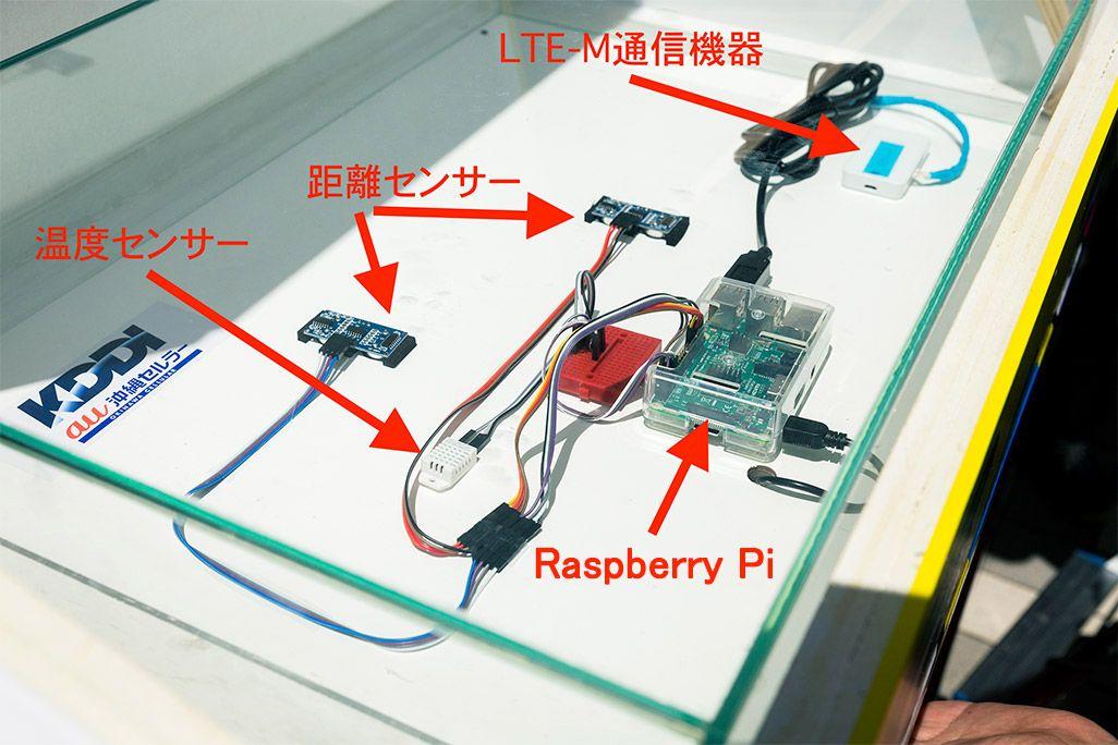 IoTごみ箱の内部