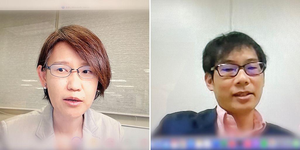 国際電気通信基礎技術研究所 田中沙織さんと千葉俊周さん