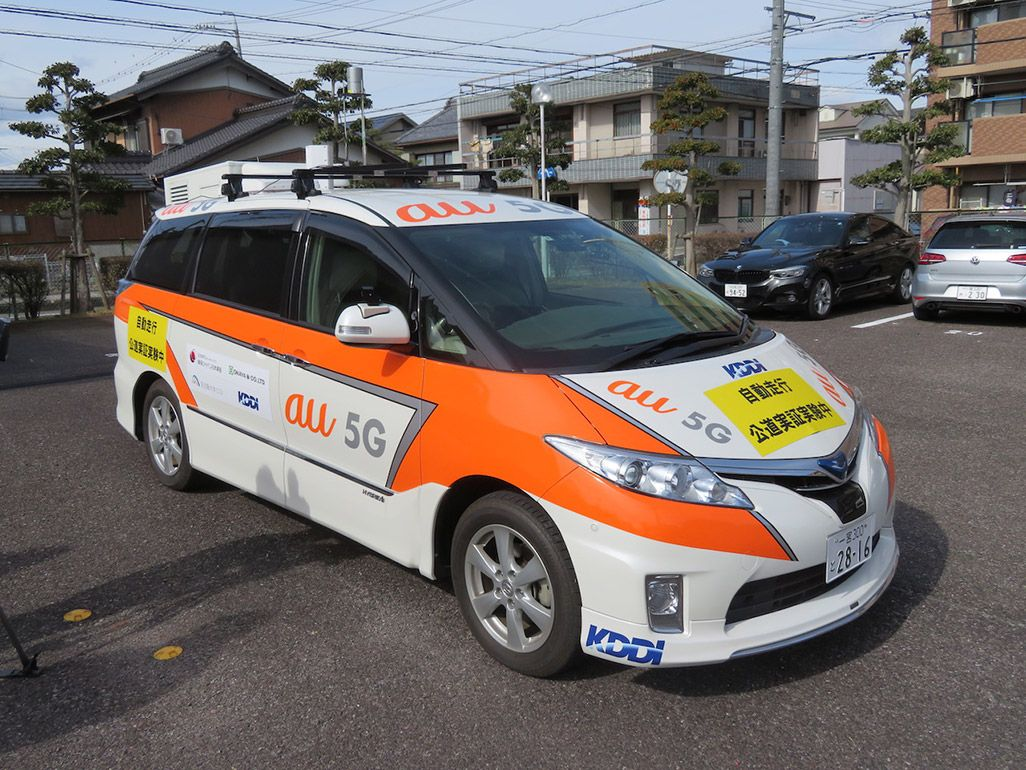 5G自動運転車