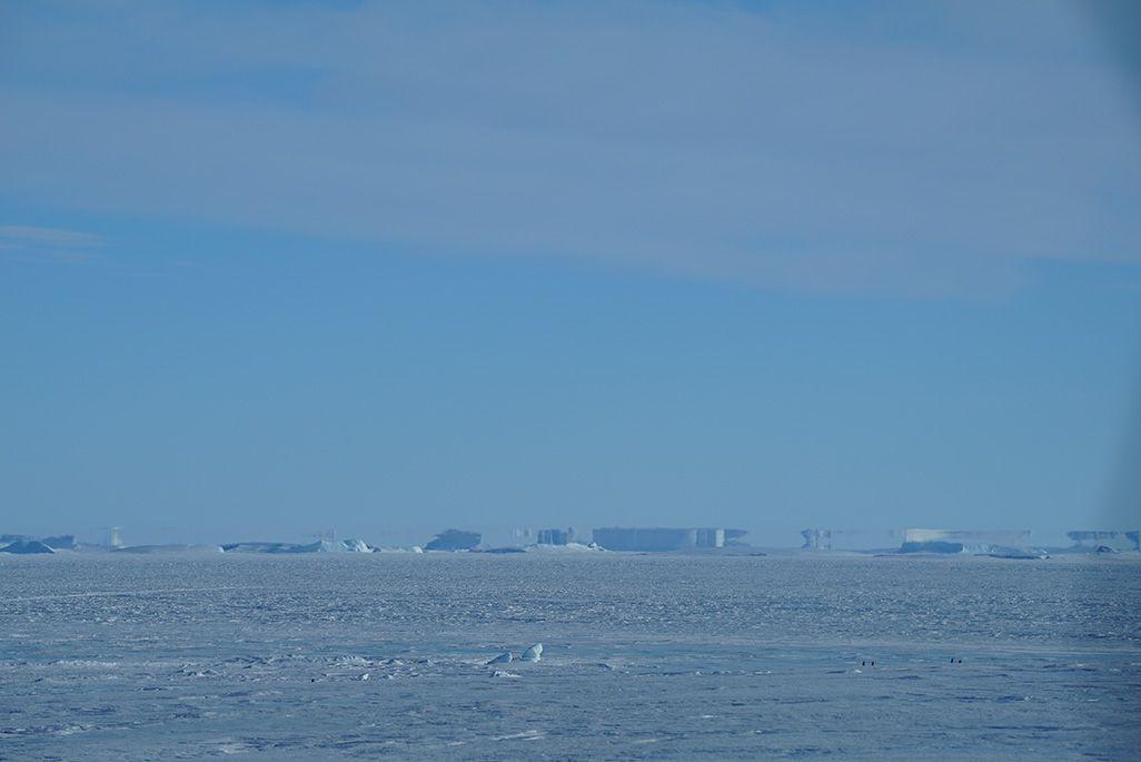 南極で観測された蜃気楼