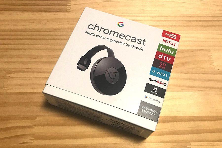 箱に入った状態のGoogle「Chromecast」