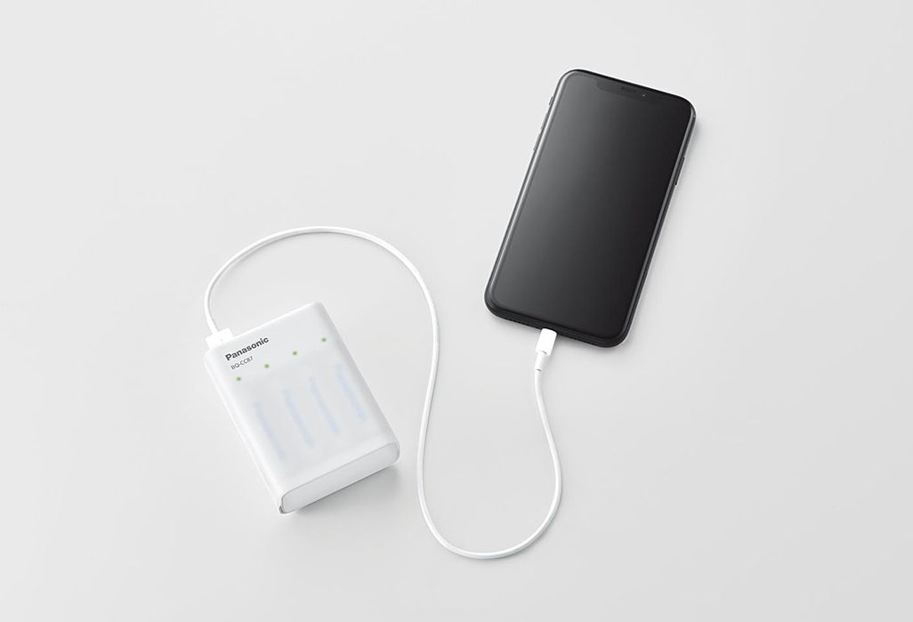 パナソニック USB入出力付急速充電器 BQ-CC87L モバイルバッテリー