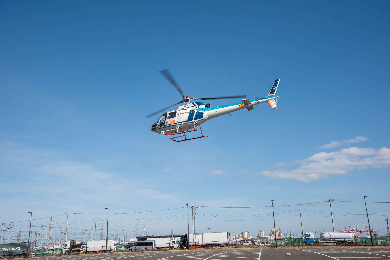 ヘリコプター基地局の体験搭乗