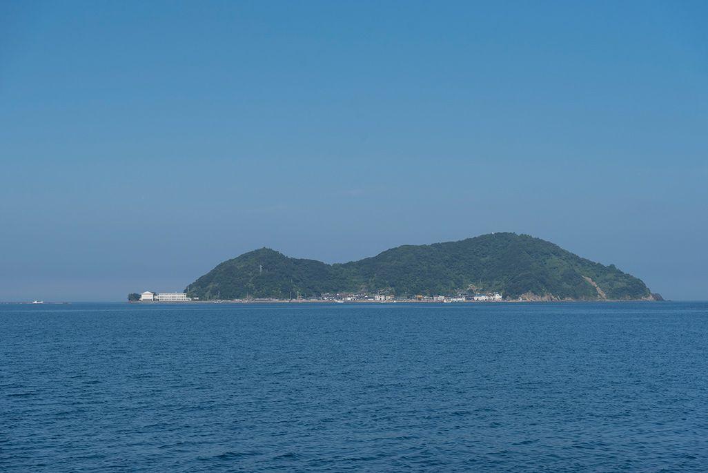 嘉島の遠景