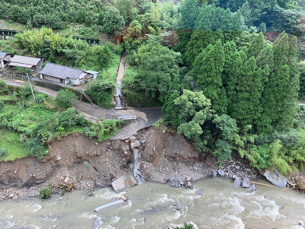 令和2年7月豪雨による土砂崩れ