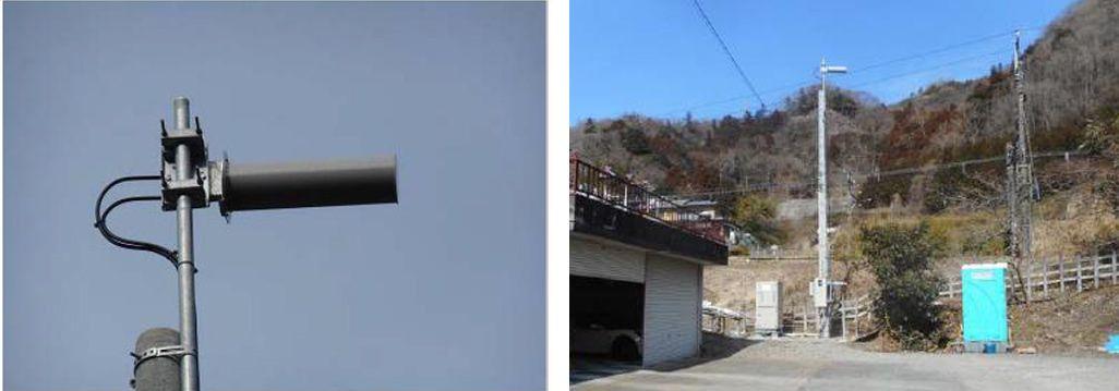 梁川町の基地局で使用されているバズーカアンテナ
