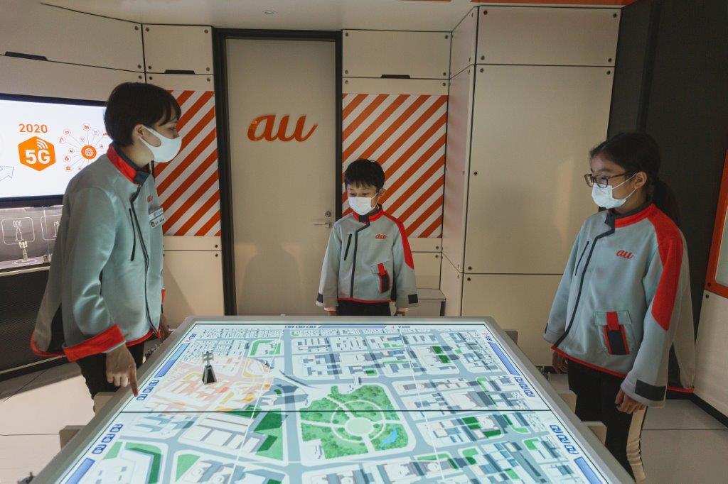 キッザニア東京の「通信会社」パビリオン