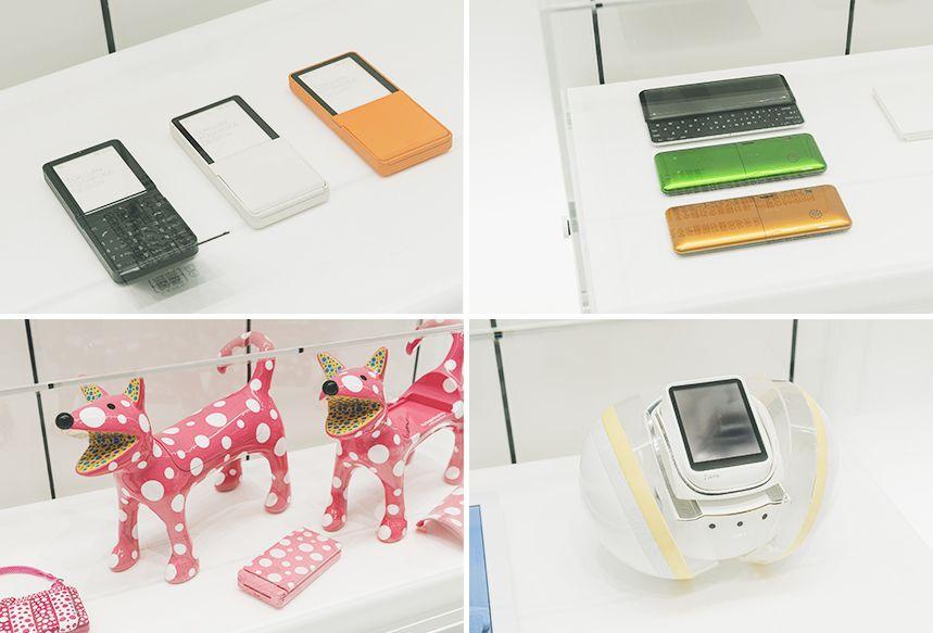 コンセプトモデル「MEDIA SKIN」、「SUPER INFOBAR」、iida「Art Editions YAYOI KUSAMA」3作品、「Polaris」
