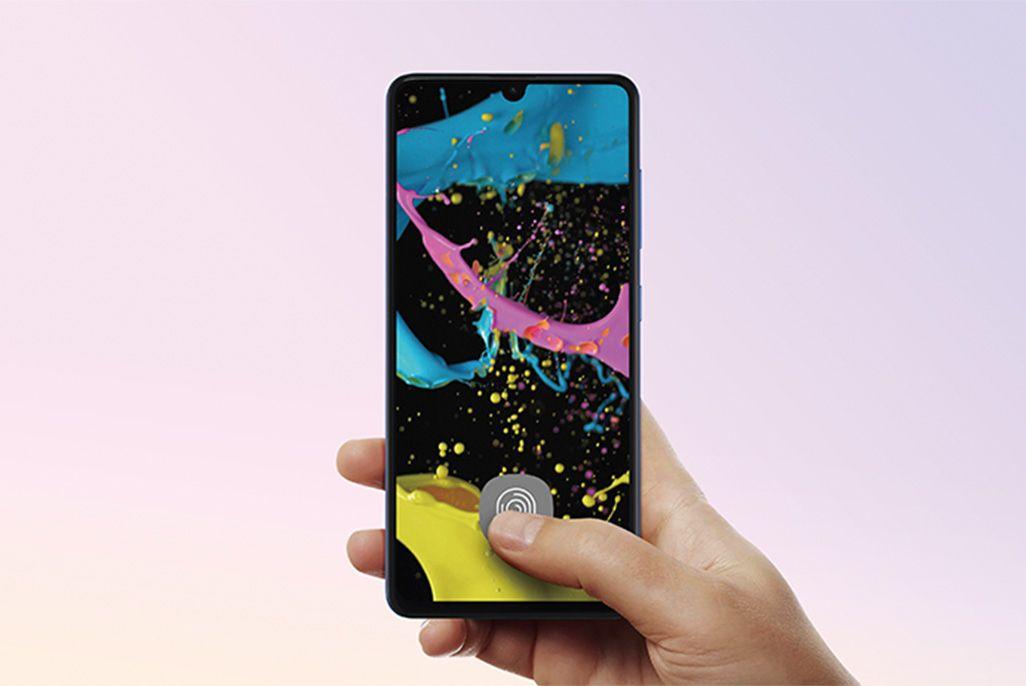 Galaxy A41のOn-Display指紋センサー