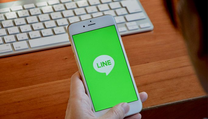 LINE起動画面