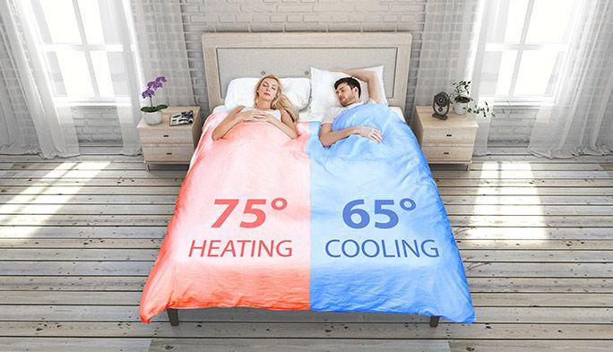 熱帯夜も夫婦円満! ベッドの温度を左右で分けられる快眠スマート掛け布団