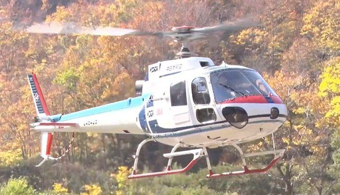国内初の『ヘリコプター基地局』が電波を発射! 空から遭難者の位置を特定