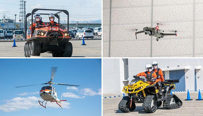 水陸両用車や四輪バギーを導入 いち早く通信を復旧するためのKDDI災害対策訓練に密着