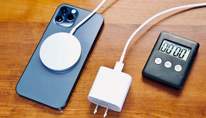 「MagSafe」と「ケーブル」どっちが早い?iPhoneの充電速度や使い勝手の違いを検証