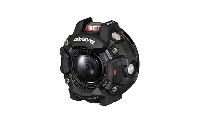 カシオのアクションカメラ「G'z EYE GZE-1」