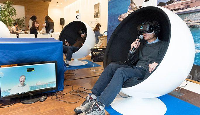 圧倒的臨場感で学習意欲・効果もアップ? TOEIC® ENGLISH CAFÉで「VR英会話」を体験してきた
