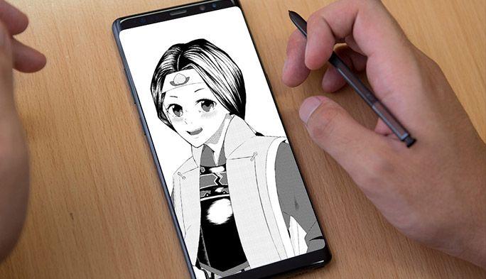 「スマホと指で描く漫画家」あつもりそう 『Galaxy Note8』のSペンを試してみたら……