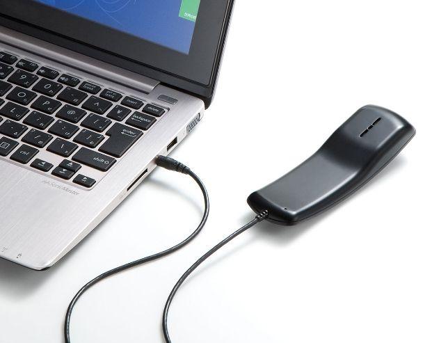 スマホで使える受話器「4極対応ハンドセット」