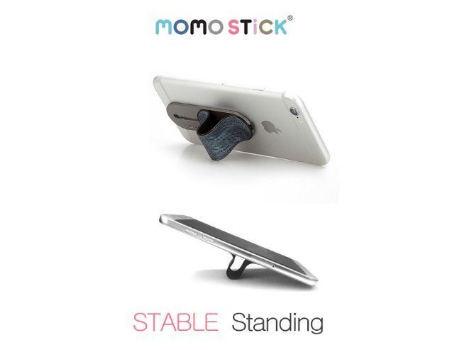 厚さが気にならないフラットなスマホバンド「MOMO STICK」